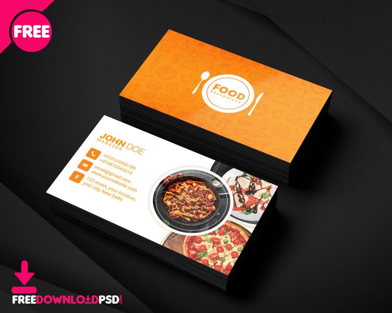 Restaurant Business Card Freedownloadpsd Com