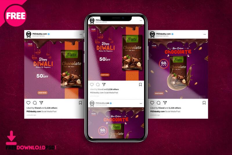 chocolate social media post